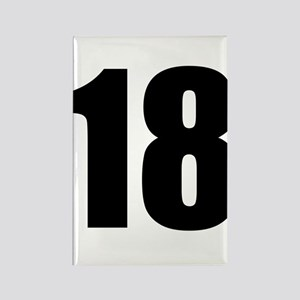 Number 18 Rectangle Magnet
