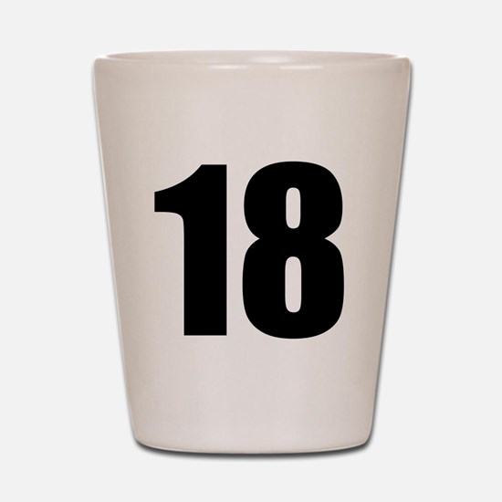 Number 18 Shot Glass