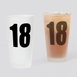 Number 18 Drinking Glass