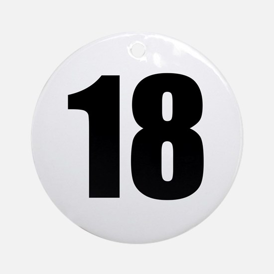 Number 18 Round Ornament