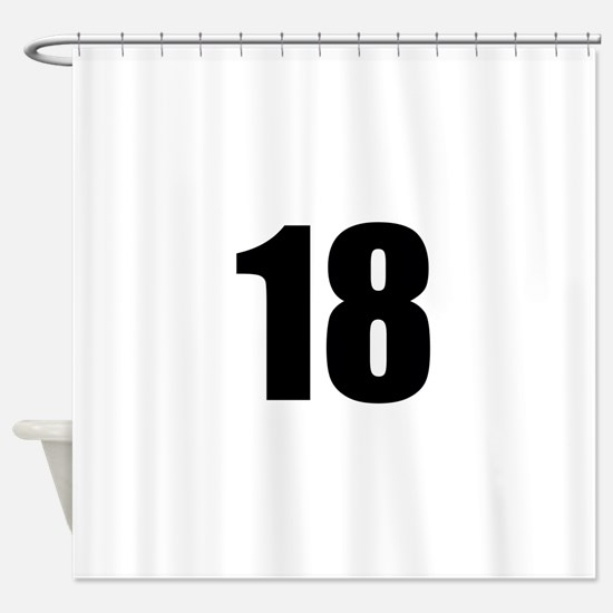 Number 18 Shower Curtain