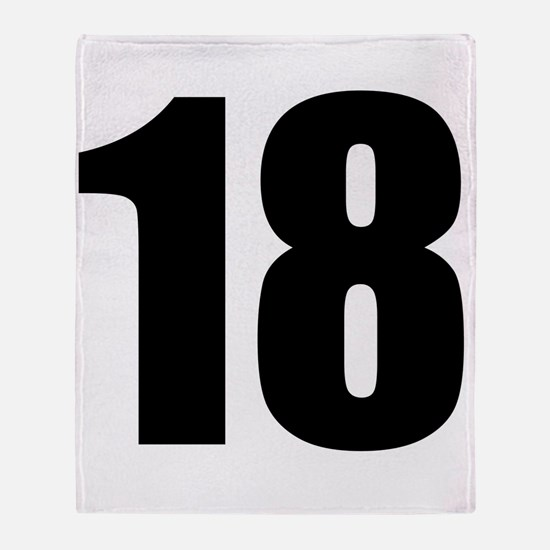 Number 18 Throw Blanket