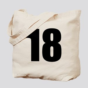 Number 18 Tote Bag