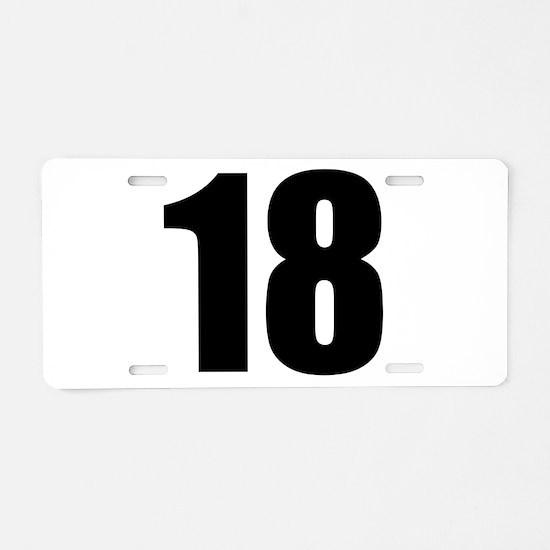 Number 18 Aluminum License Plate