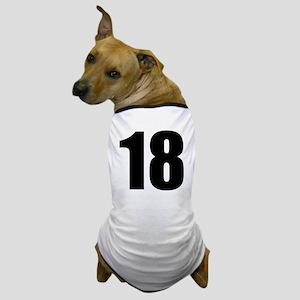 Number 18 Dog T-Shirt