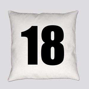 Number 18 Everyday Pillow