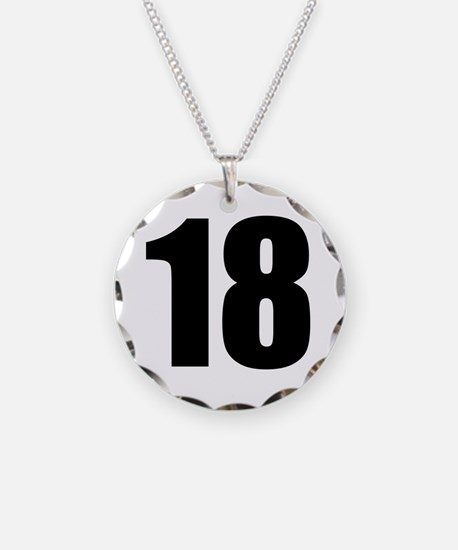 Number 18 Necklace