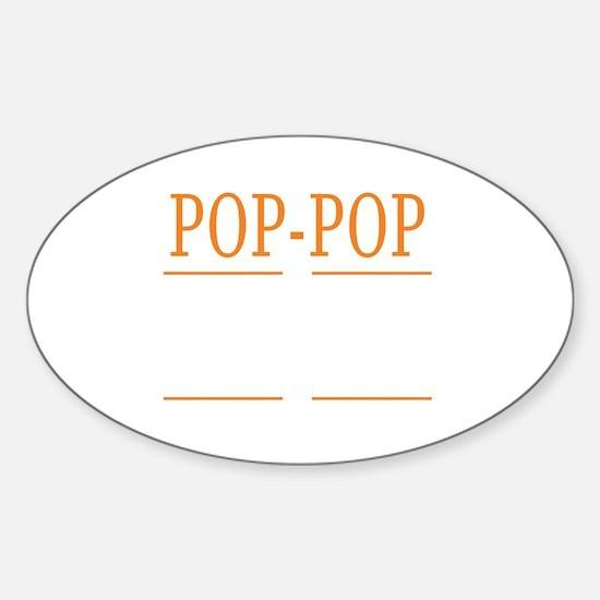 Cute Poppop Sticker (Oval)