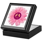 Pink Peace Daisy Keepsake Box