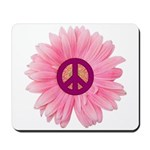 Pink Peace Daisy Mousepad