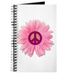 Pink Peace Daisy Journal