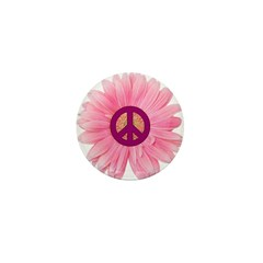 Pink Peace Daisy Mini Button (100 pack)