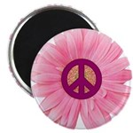 Pink Peace Daisy Magnet