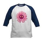 Pink Peace Daisy Kids Baseball Jersey