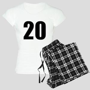 Number 20 Women's Light Pajamas