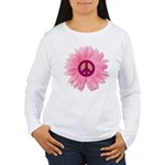 Pink Peace Daisy Women's Long Sleeve T-Shirt