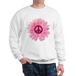 Pink Peace Daisy Sweatshirt