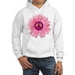 Pink Peace Daisy Hooded Sweatshirt