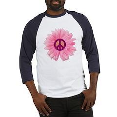 Pink Peace Daisy Baseball Jersey