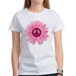 Pink Peace Daisy Women's T-Shirt