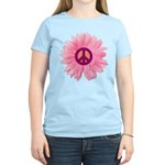 Pink Peace Daisy Women's Light T-Shirt