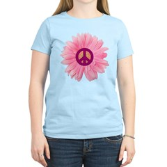 Pink Peace Daisy Women's Light T-Shirt