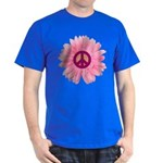 Pink Peace Daisy Dark T-Shirt