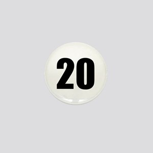 Number 20 Mini Button