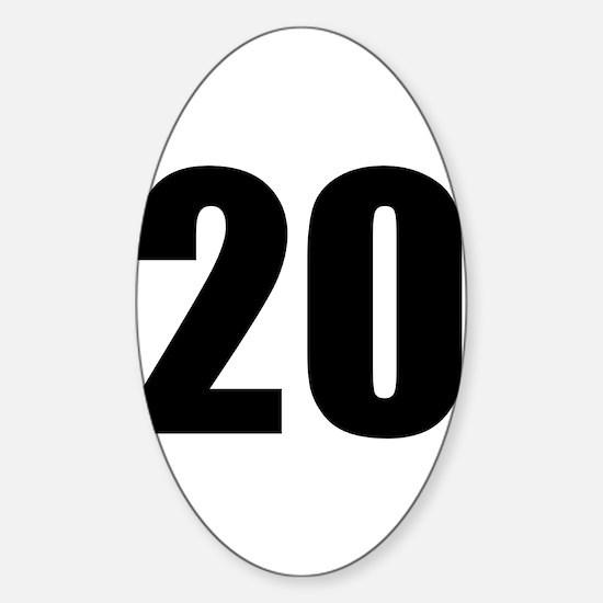 Number 20 Sticker (Oval)