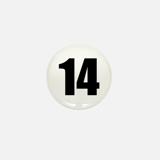 Number 14 Mini Button