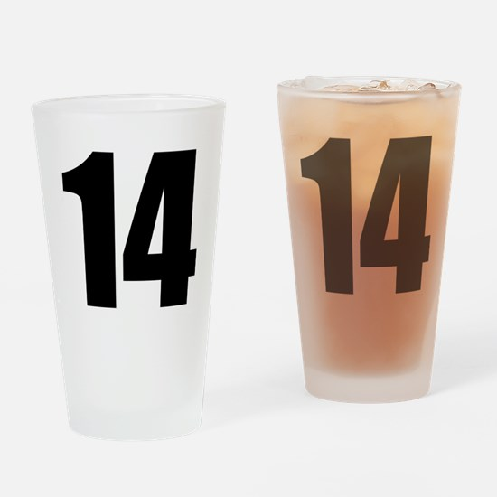 Number 14 Drinking Glass