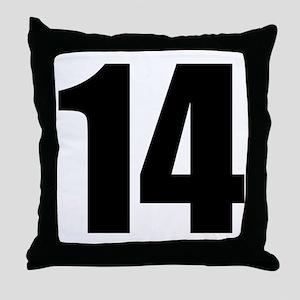Number 14 Throw Pillow