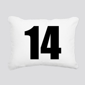 Number 14 Rectangular Canvas Pillow