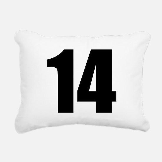 Number 14 Rectangular Canvas Pillow