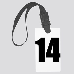 Number 14 Large Luggage Tag