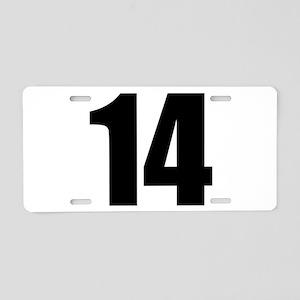 Number 14 Aluminum License Plate