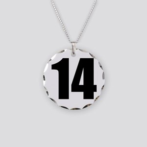 Number 14 Necklace Circle Charm