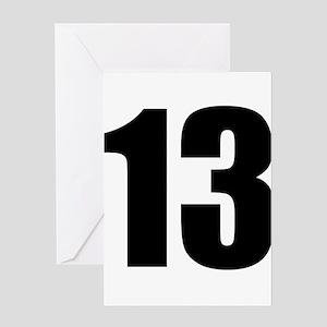 Number 13 - Thirteen Greeting Card