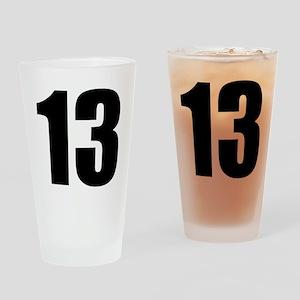 Number 13 - Thirteen Drinking Glass