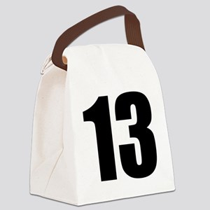 Number 13 - Thirteen Canvas Lunch Bag