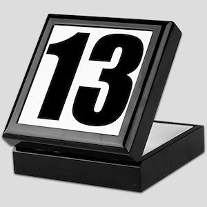 Number 13 - Thirteen Keepsake Box