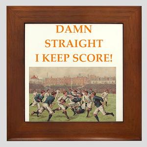 rugby Framed Tile