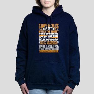 Camping Rules Women's Hooded Sweatshirt