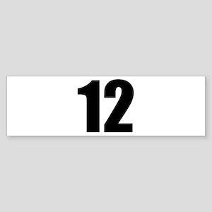 Number 12 Sticker (Bumper)