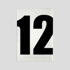 Number 12 Rectangle Magnet