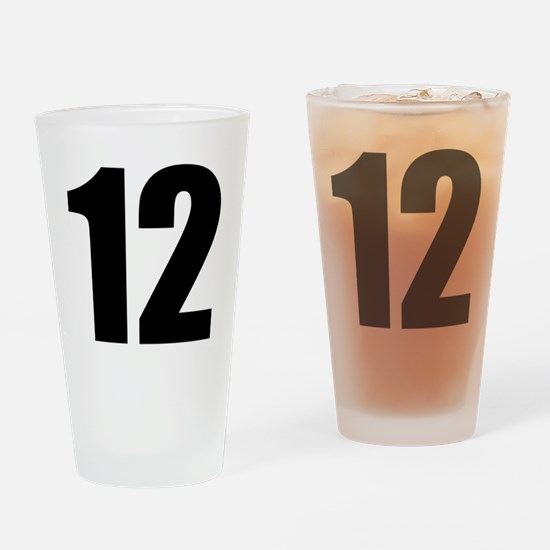 Number 12 Drinking Glass