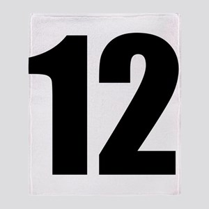 Number 12 Throw Blanket