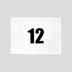 Number 12 5'x7'Area Rug