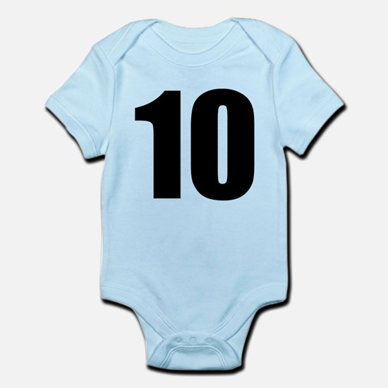 Number 10 Baby Light Bodysuit