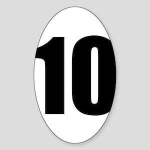 Number 10 Sticker (Oval)